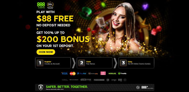 888 Casino Mobile Bonus
