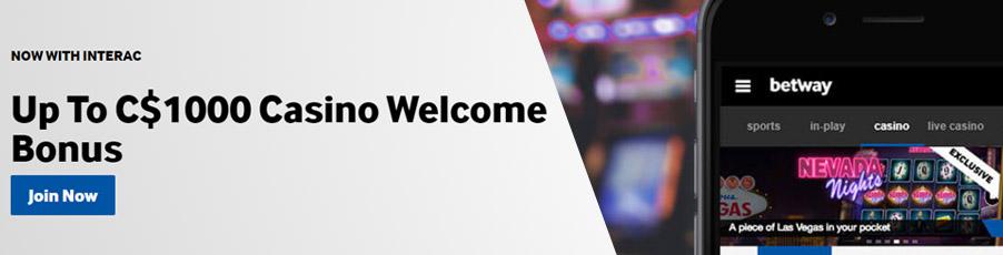 Betway Casino Bonus Banner