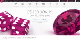 Ruby Fortune Canada preview bonus